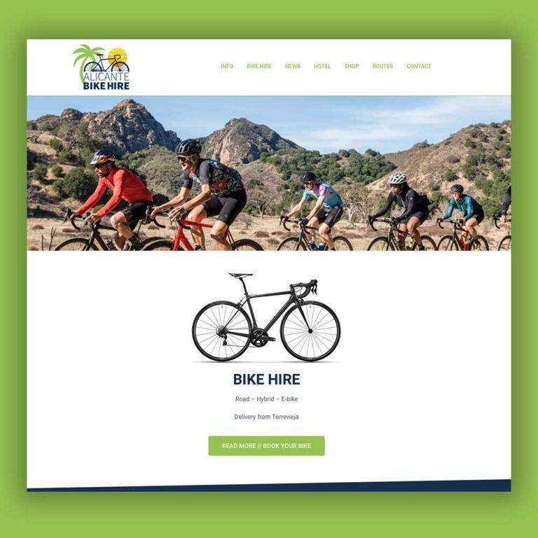Redesign hjemmeside Alicante Bike Hire