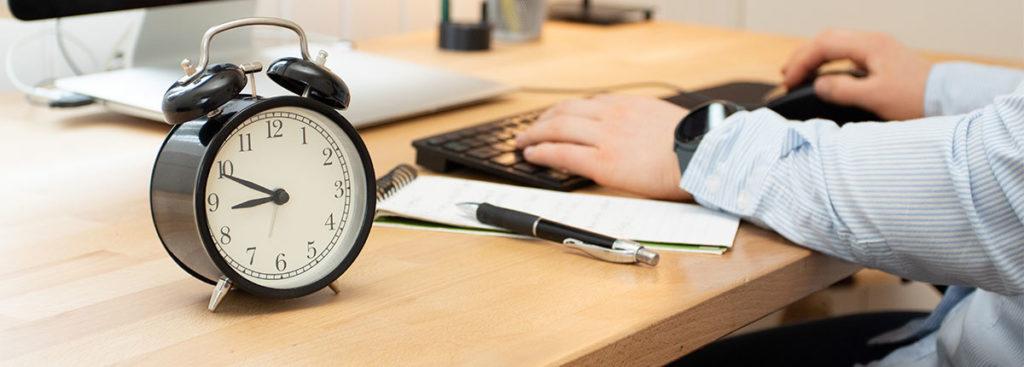 Definer arbeidstid og lunsjpause når du har hjemmekontor