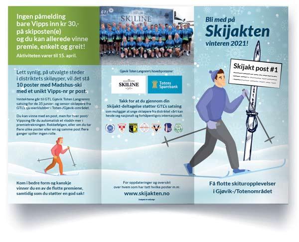 Skijakten vinteren-2021 Brosjyre designet av essDesign