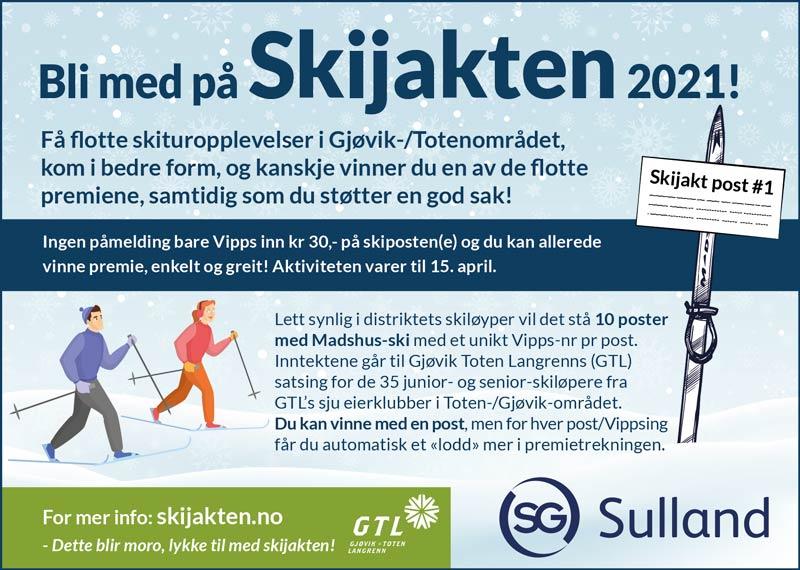 Skijakten 2021 Avisannonse - Sulland Gjøvik