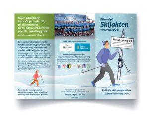 Skijakten Gjøvik og Toten vinteren 2020 2021 - Brosjyre designet av essDesign