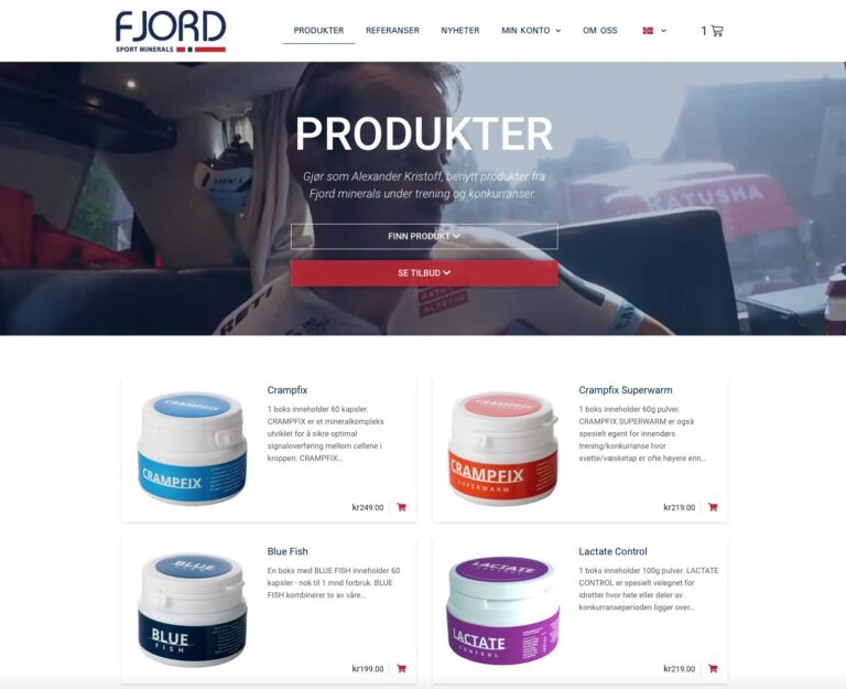 Hjemmeside med nettbutikk - essDesign - Fjord Minerals